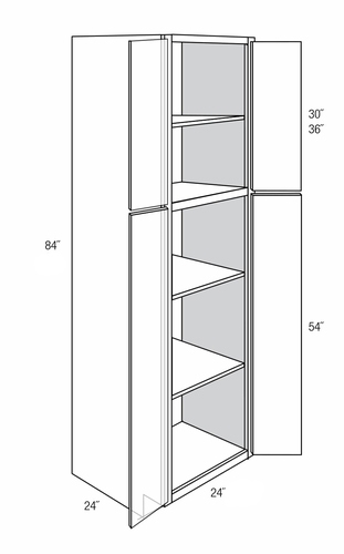 Wp2484b Tall Pantry Cabinet Branford Recessed Rta
