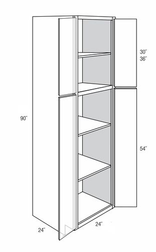 Wp2490b Tall Pantry Cabinet Norwich Recessed Rta Kitchen