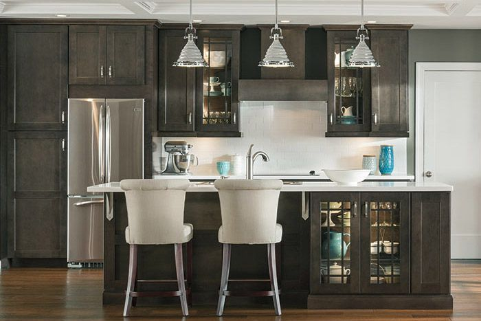 York Grey Stain Kitchen Cabinets