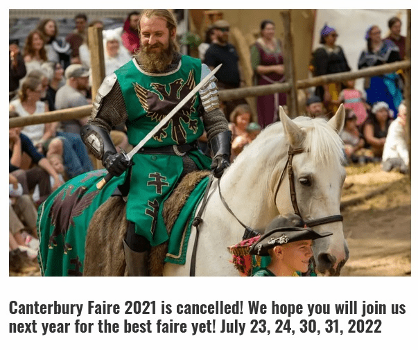 """Canterbury Renaissance Faire <span style=""""color:red"""">~CANCELLED~ </span>"""