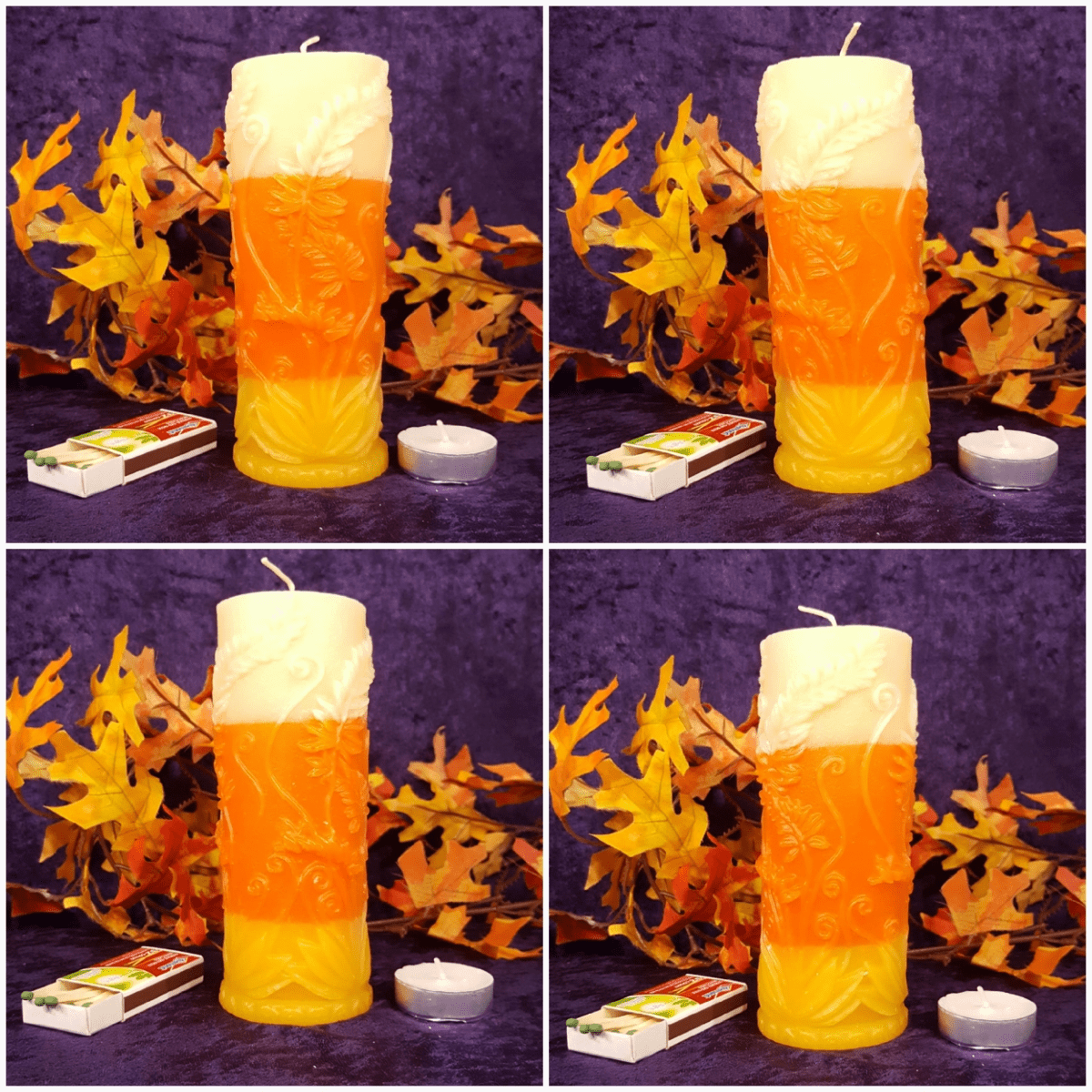 Floral Pillar - Candy Corn