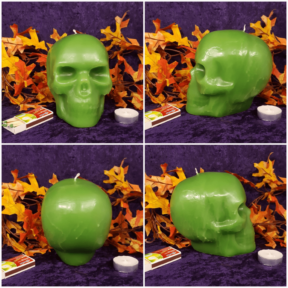 Large Skull Solid Green