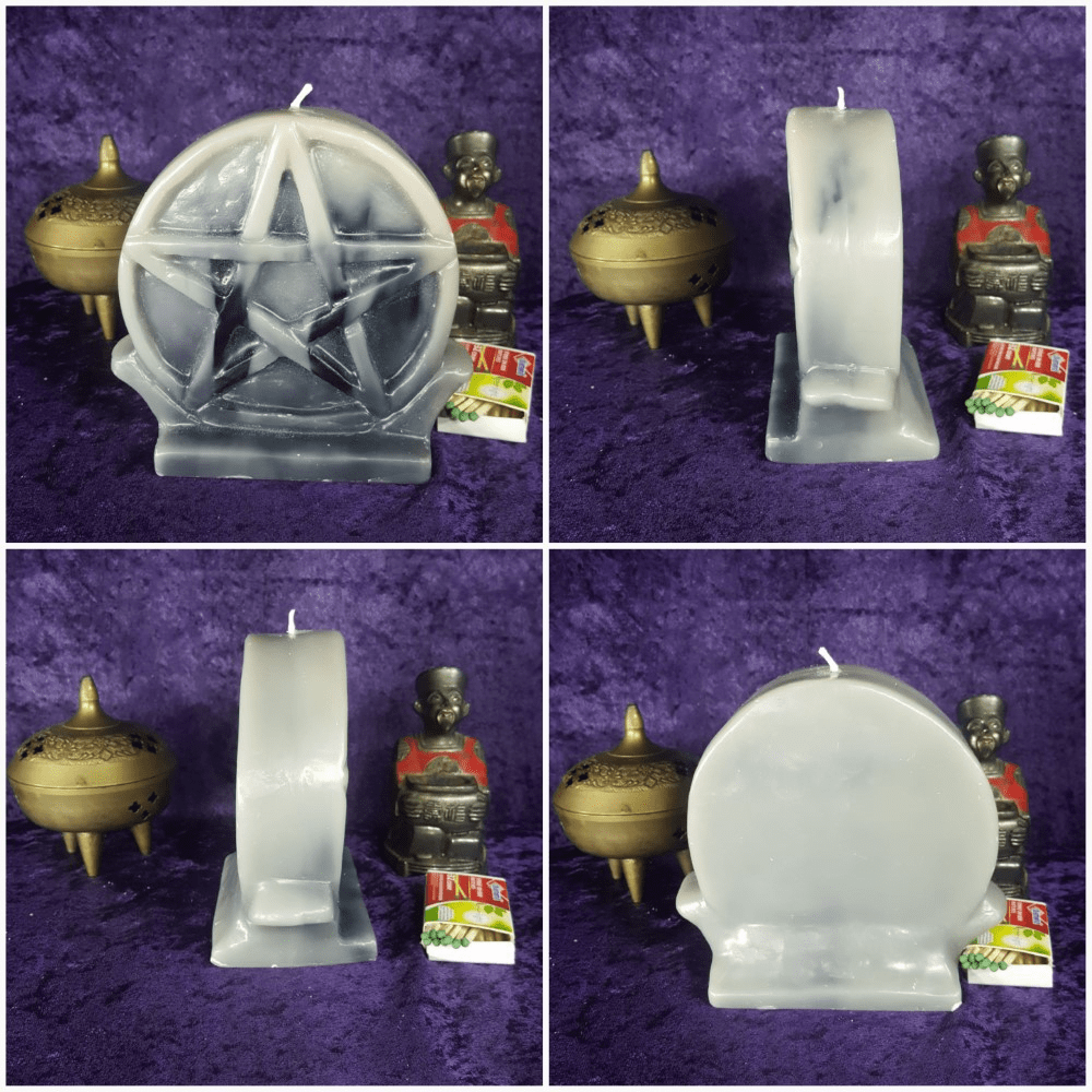 Pentacle Alter Candle - 5.25in