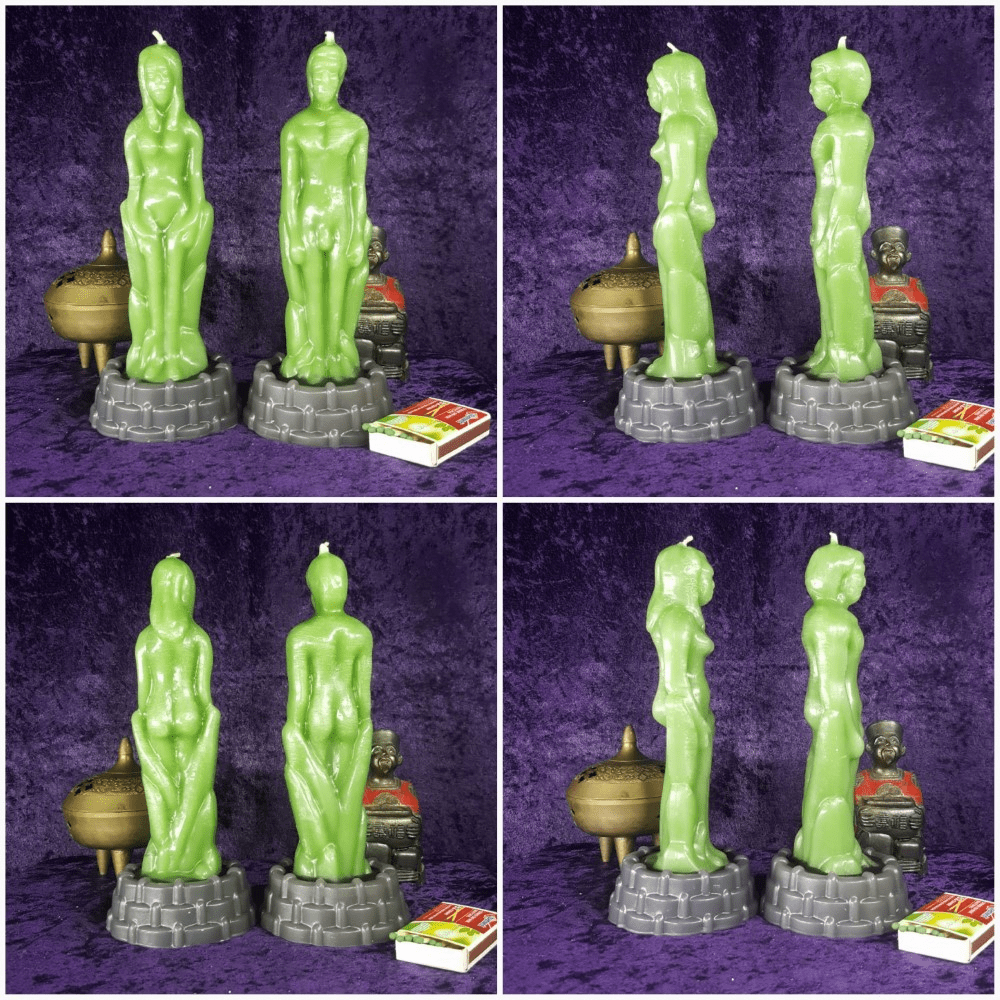 Spell/Meditation Candle Couple (Set of 2)