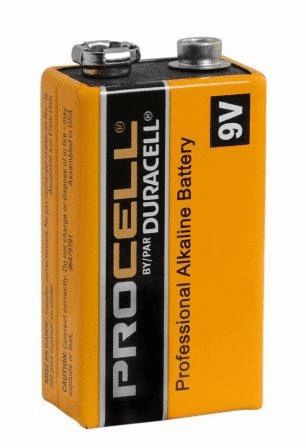 10 Pack Duracell Pro Cell 9 Volt Batteries
