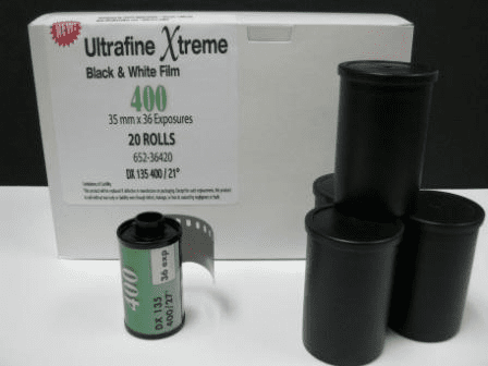 20 Count Box Ultrafine eXtreme Black & White Film ISO 400 35mm x 36 exp.