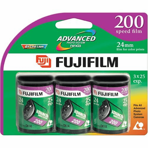 3 Rolls Fujifilm Fujicolor Advanced Photo System APS Nexia 200 - 25 Exp Film 2005 Dating