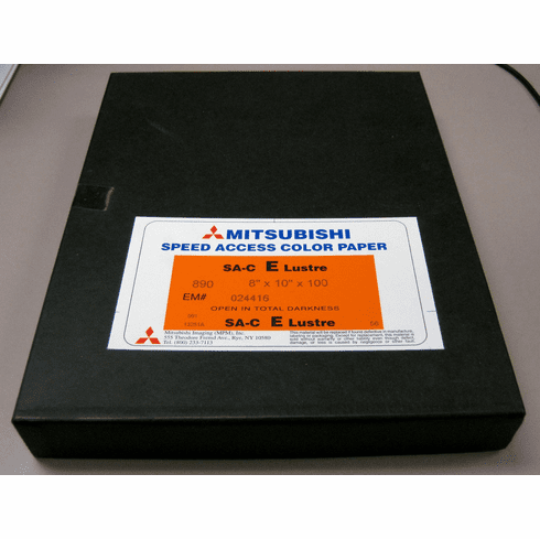 "300 Sheets Mitsubishi Speed Access RA-4 Color Paper 8"" x 10"" E Lustre Surface"