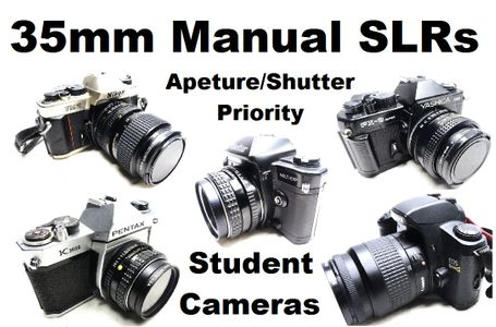 35mm SLR Cameras with Manual Settings - Student Camera - Used