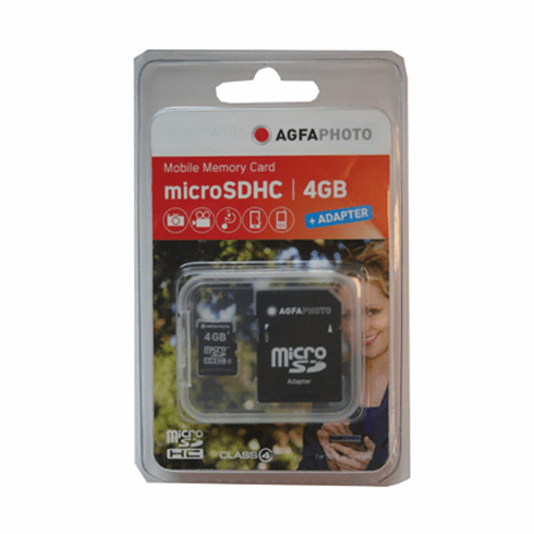 Agfa 4GB Micro SD Digital Memory Secure Digital Cards