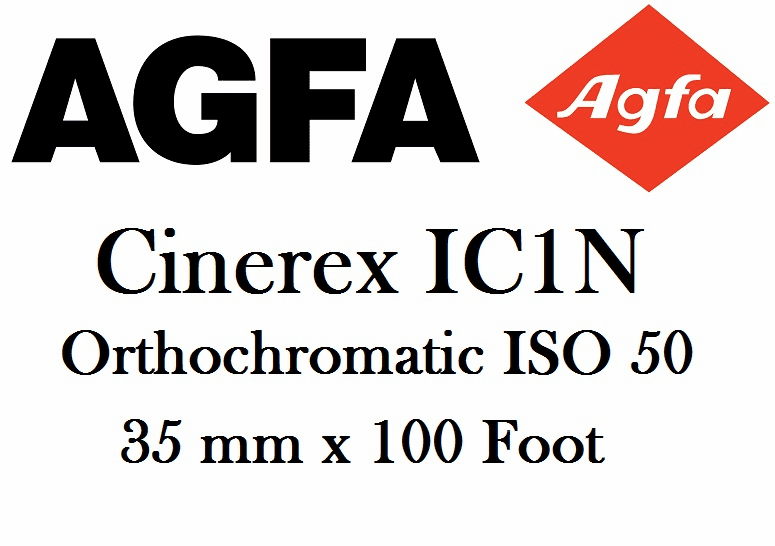 Agfa Cinerex IC1N 35mm Orthochromatic B&W film, 50 ISO 35mm x 100' Roll