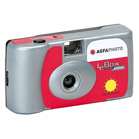 Agfa Photo LeBox Outdoor 35mm Disposable Camera, 27 Exposure, ISO 400 Color Film