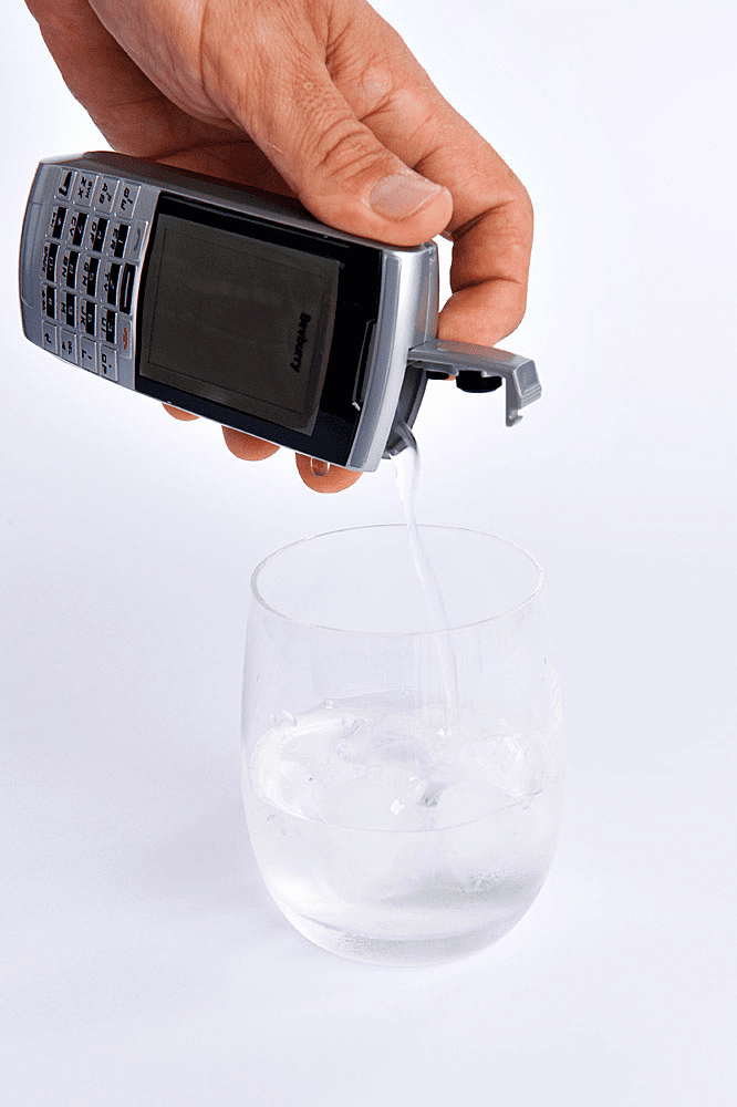 Bevburry Beverage Flask Cell Phone Shaped 3 oz.