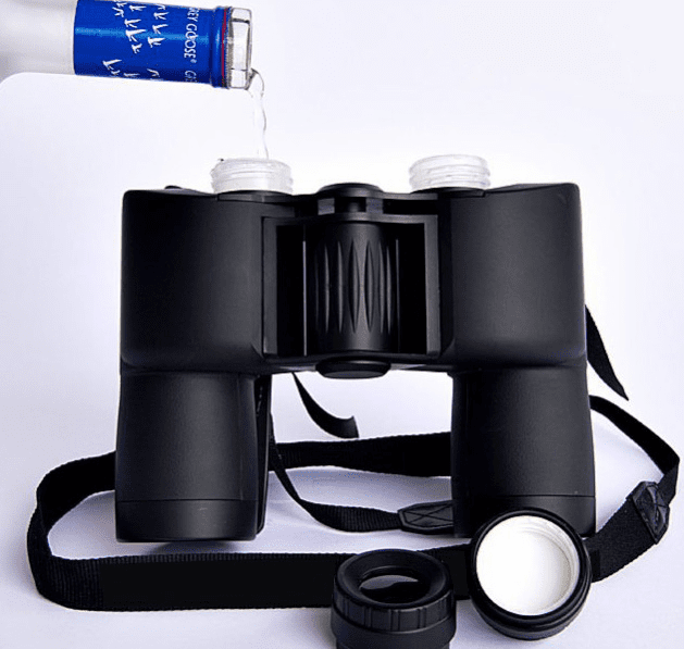 Bevnocular Beverage Double Flask Classic Binocular Shaped 16 oz.