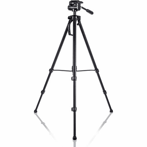 Camera/Camcorder Tripod 66 inch with mounts for GoPro Action Cameras and Smartphones