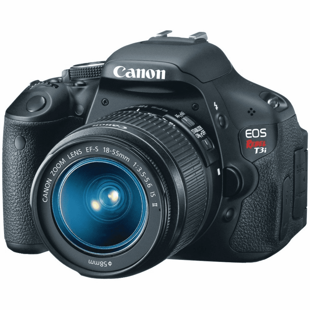 Canon EOS Rebel T3i 12.2 MP DSLR Camera - Black (Kit w/ EF-S IS II 18-55mm Lens)