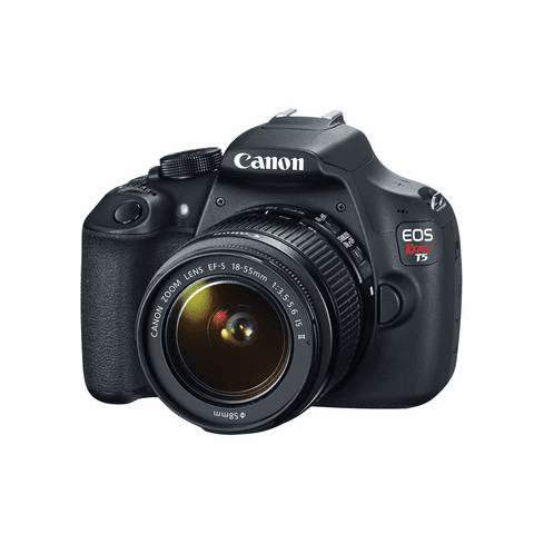Canon EOS Rebel T5 DSLR (w/ EF-S IS II 18-55mm Lens)