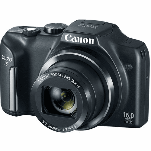 Canon Powershot SX170 Camera Black - Refurbished