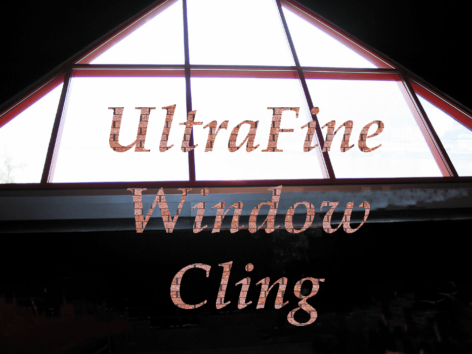 Clear Window Cling Ink Jet Film