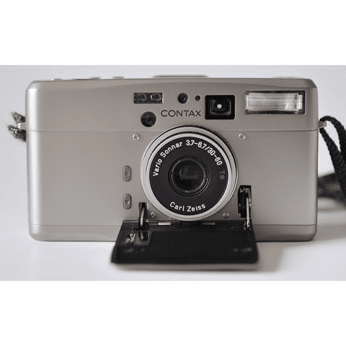 Contax TVS III Silver 35mm Camera W/Zeiss Vario-Sonnar T* 30-60 f3.7 Lens - Used