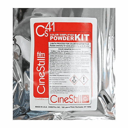 "CS41 ""COLOR SIMPLIFIED"" 2-BATH KIT FOR PROCESSING COLOR NEGATIVE FILM AT HOME (C-41 CHEMISTRY)"