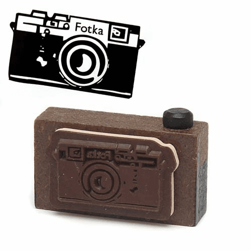 Decole Poulain Retro Camera Rubber Stamp