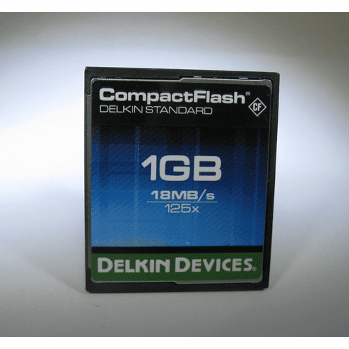 Delkin Devices Standard 1gb 18MB/s 125x CF Compact Flash Camera Memory Card