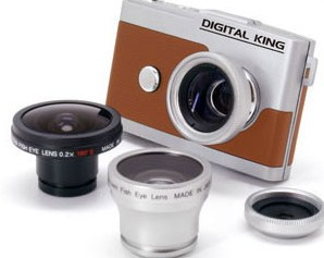 Digital King Gizmon Half D Digital Camera and Gizmon Lenses