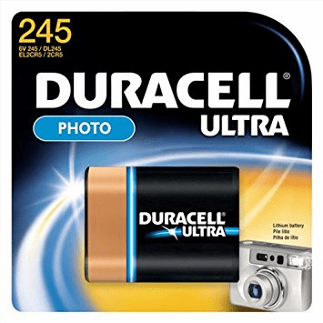 Duracell Ultra Lithium 245 2CR5 6 Volt Battery
