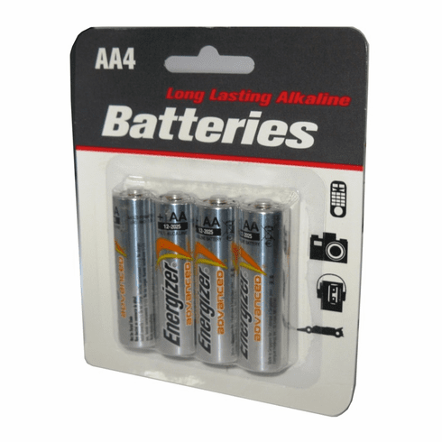 Energizer Advanced 4 Pack AA Alkaline Batteries