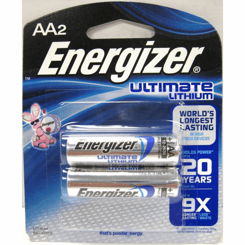 Energizer Ultimate Lithium AA Batteries 2 Pack