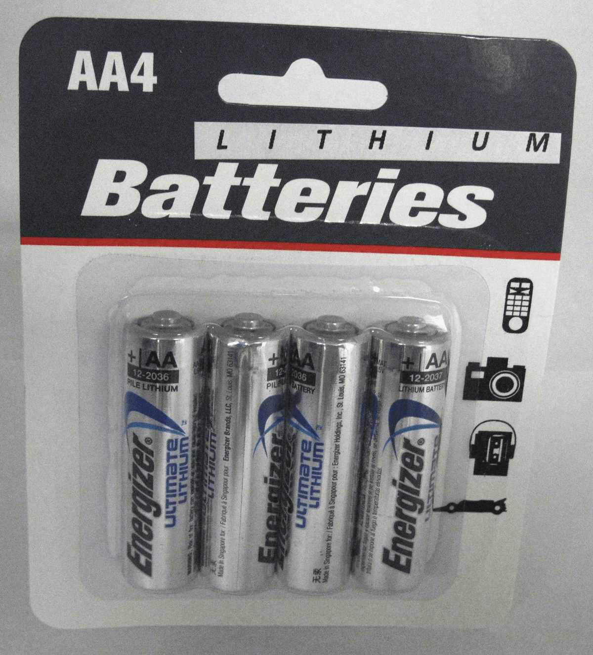 Energizer Ultimate Lithium AA Batteries 4 Pack