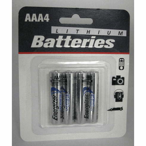 Energizer Ultimate Lithium AAA Batteries 4 Pack