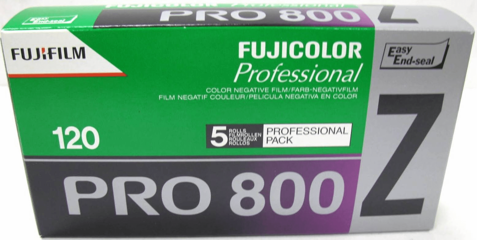 Fuji 5 Roll Pro Pack Box 120 ISO 800 Color Negative Film 03/2012