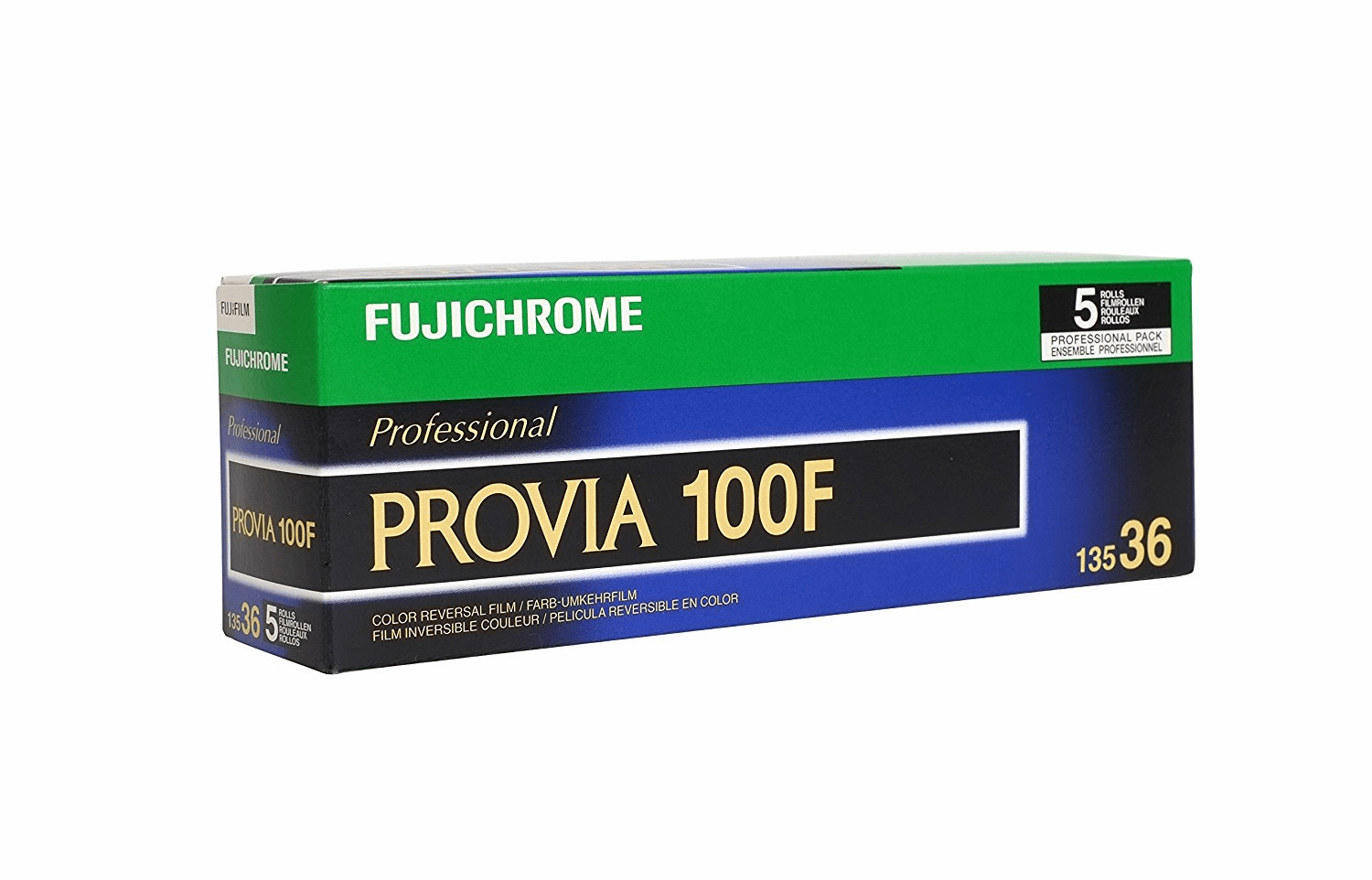 Fujichrome Provia 100F RDPIII 35mm x 36 exp 5 Roll Pack