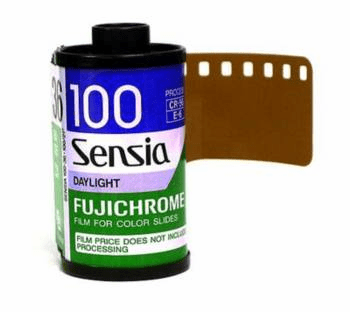 Fujichrome RA Sensia 100 Slide Film 35mm x 24 exp.