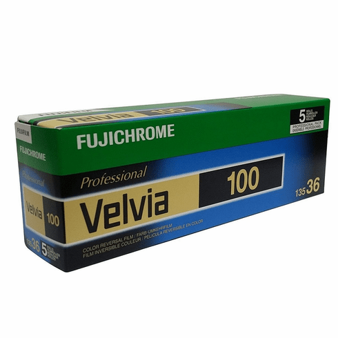 Fujichrome Velvia 100 RVP 35mm x 36 exp 5 Roll Pack