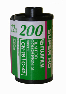 Fujicolor CA 200 Color Print Film 35mm x 12 Exp.