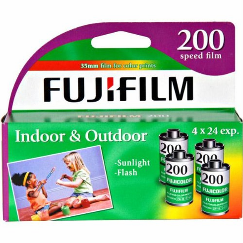 Fujicolor Fujifilm 200 ISO 35mm x 24 exp. 4 Pack Out Dated Special