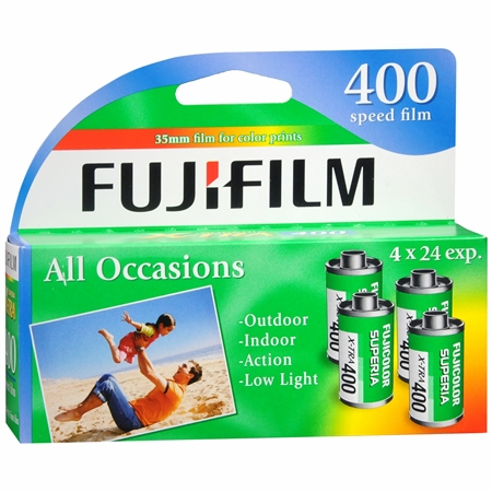 Fujicolor Superia X-TRA 400 ISO 35mm x 24 exp 4 Pack 08/2017