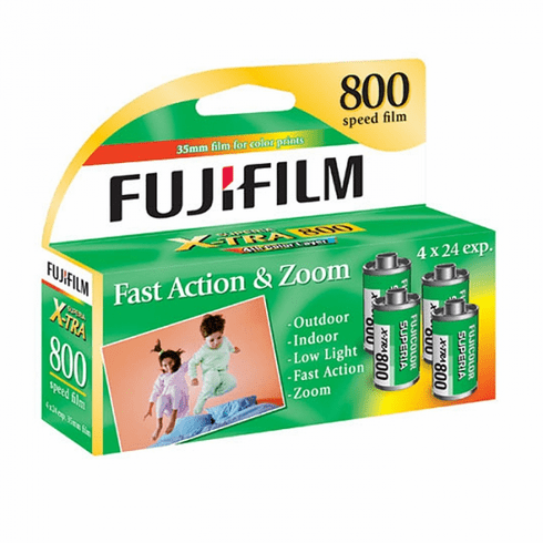 Fujicolor Superia X-TRA 800 ISO 35mm x 24 exp 4 Pack 02/2017