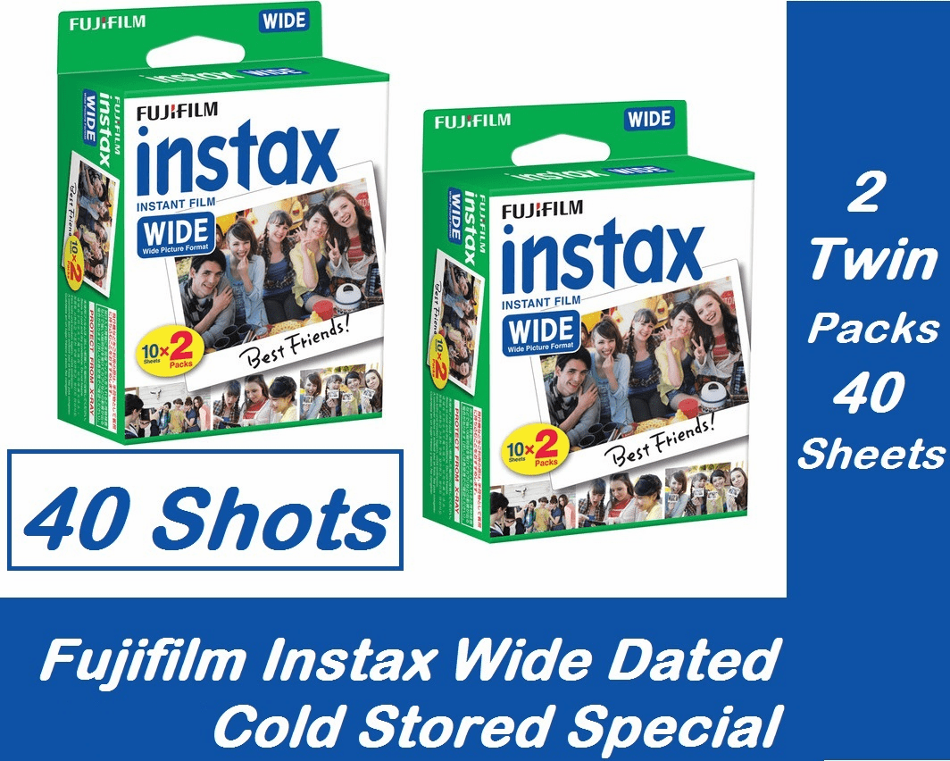 FujiFilm INSTAX Wide Instant Film 40 Sheets - 2 Twin Packs Special Dated