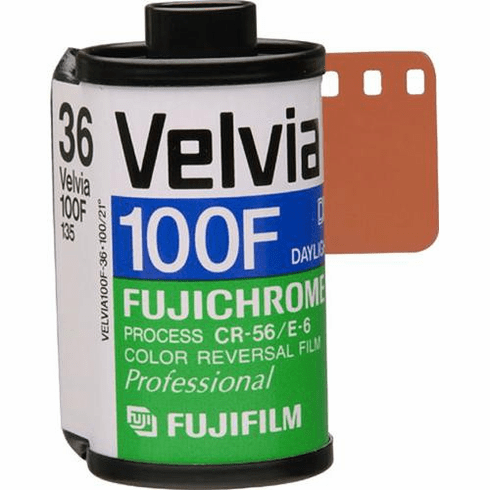 Fujifilm RVP 135-36 Fujichrome Velvia 100-F Professional Color Slide (Transparency) Film (ISO-100)