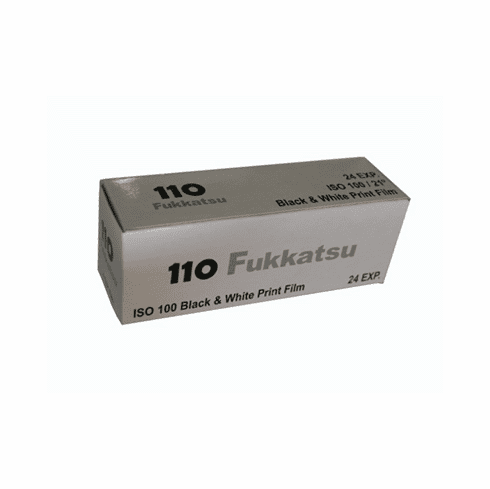 Fukkatsu 110 Format Black-and-White 100 Film Fresh 24 exp.