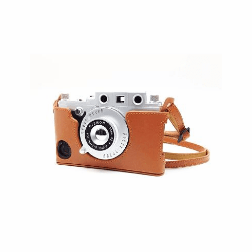 Gizmon iCa BROWN Leather Case and Neck Strap