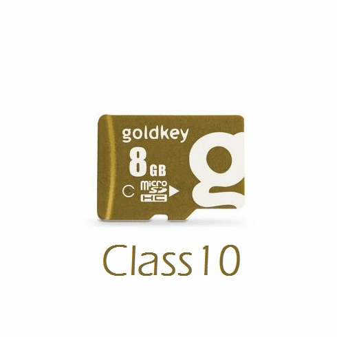 Goldkey 8GB MicroSDHC Class 10 Card with Adapter