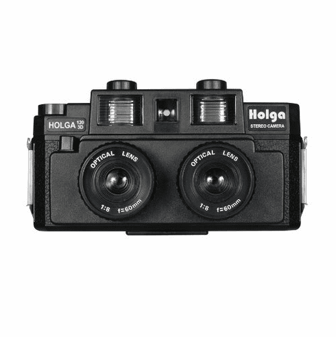 Holga 120 3D Stereo Camera Black Twin Flash