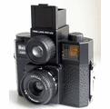 Holga 120 Camera Twin Lens Reflex 120TLR with Color Flash