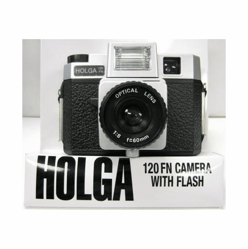 Holga 120 FN Camera with Flash Silver/Black