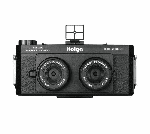 Holga 120 Stereo Pinhole Camera Black 120PC-3D